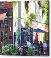 Outdoor Cafe Philadelphia Pa Acrylic Print