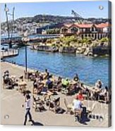 Outdoor Cafe Wellington New Zealand Acrylic Print