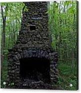 Outdoor Fireplace Acrylic Print