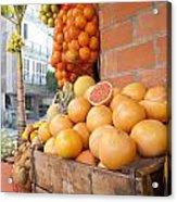 Outdoor Fruit Juice Stall  Acrylic Print