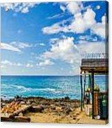 Outdoor Tropical Bar And Souvenirs Acrylic Print