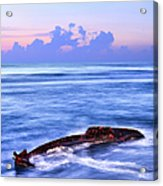 Outer Banks - Beached Boat Final Sunrise II Acrylic Print