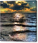 Outer Banks - Radical Sunset On Pamlico Acrylic Print