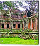 Outer Building Of Angkor Wat In Angkor Wat Archeological Park Near Siem Reap-cambodia  Acrylic Print