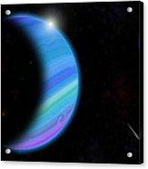 Outer Space Dance Digital Painting Acrylic Print by Georgeta Blanaru