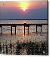 Outerbanks Nc Sunset Acrylic Print