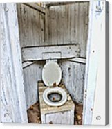Outhouse A Look Inside Acrylic Print