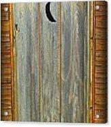 Outhouse Door Acrylic Print