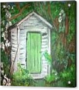 Outhouse Greenery Acrylic Print