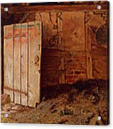 Outhouse Interior Acrylic Print