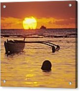 Outigger Canoe Silhouette Acrylic Print