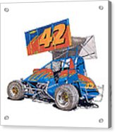 Dirt Track Racing Outlaw 42 Acrylic Print