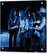Outlaws #26 Crop 2 Blue Acrylic Print