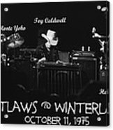 Outlaws With Toy Caldwell 1975 Acrylic Print