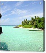 Outlook On A Maldives Island Acrylic Print