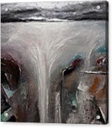 Outpour 2 Modern Waterscape Original Painting On Canvas Acrylic Print