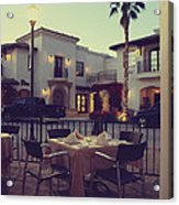 Outside Dining Acrylic Print by Laurie Search