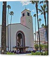 Outside Los Angeles Union Station Acrylic Print