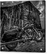 Outside The Barn Bw Acrylic Print