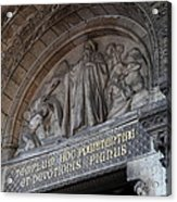 Outside The Basilica Of The Sacred Heart Of Paris - Sacre Coeur - Paris France - 011312 Acrylic Print