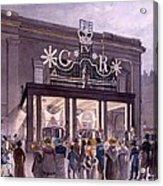 Outside The Theatre Royal, Drury Lane Acrylic Print