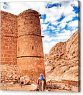 Outside The Walls Of Historic Saint Catherine's Monastery - Egypt Acrylic Print by Mark E Tisdale