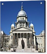Outside view of the Illinois State Capitol Building Acrylic Print