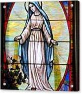 Oval Mary Acrylic Print