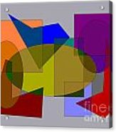 Ovals Squares Acrylic Print by Meenal C