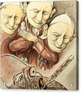 Over-pope-ulation - Cartoon Art Acrylic Print