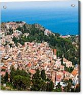 Over Taormina City Acrylic Print