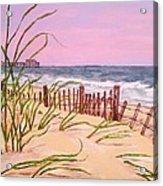 Over The Dunes To The Garden City Pier  Acrylic Print