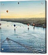Over The Hudson Acrylic Print