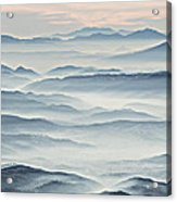 Over The Misty Mountains Acrylic Print