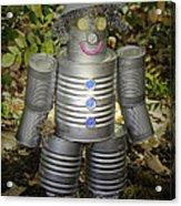 Over The Rainbow Garden Tin Man Acrylic Print