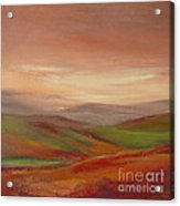 Over The Valley Acrylic Print