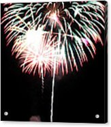 4th Of July Fireworks 4 Acrylic Print by Howard Tenke