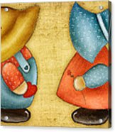 Overall Sam And Sunbonnet Sue Acrylic Print by Brenda Bryant