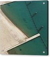 Overhead Beach Acrylic Print