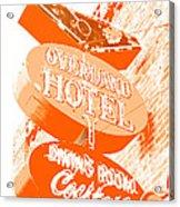 Overland Hotel Acrylic Print