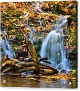 Overlooked Falls In The Porkies Acrylic Print