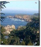 Overlooking Carmel Beach Acrylic Print