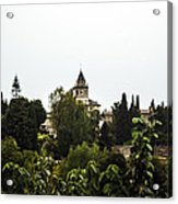 Overlooking The Alhambra On A Rainy Day - Granada - Spain Acrylic Print