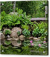 Overlooking The Lily Pond Acrylic Print