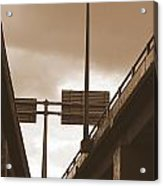 Overpass In Sepia Acrylic Print
