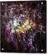 Overprinted Fireworks Acrylic Print