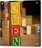 Owen - Alphabet Blocks Acrylic Print