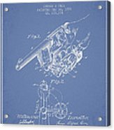 Owen Revolver Patent Drawing From 1899- Light Blue Acrylic Print