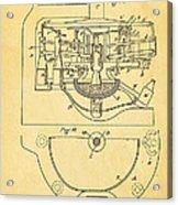 Owens Glass Shaping Machine Patent Art 3 1904 Acrylic Print