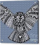Owl In Flight Bubbles Acrylic Print